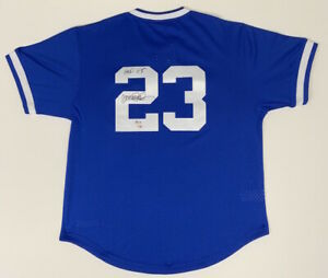 "RYNE SANDBERG Signed / Inscribed ""HOF '05"" M&N Chicago Cubs Blue Jersey FANATICS"