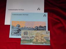 Australia. 1988 Bi-Centennial 10 Dollars. With Overprint.. In NPA Commem Folder