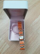 XOXO Wrist Watch Quartz Orange Stainless Steel In Box Case Womens