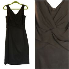 d65d46262fd7 Elie Tahari Womens Size 8 Little Black Dress Silk Sleeveless Draped MSRP  $398