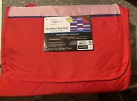 Outdoor Blanket Stadium Seat Cushion Folding Red Mainstays Water-Repellent Carry