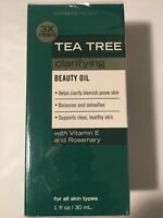 Tea Tree Facial Oil Anti Blemish Clarifies  Balances & Detoxifies 3x Strength