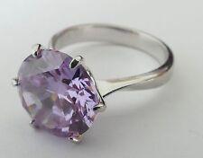 Ring mit lilafarbenem geschliffenen Edelstein Silber 925 rhodiniert silver ring