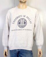 vtg 80s 90s crest logo University of Dallas TX Raglan Sleeve Sweatshirt NCAA XL
