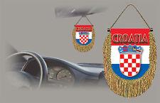 CROATIA REAR VIEW MIRROR WORLD FLAG CAR BANNER PENNANT