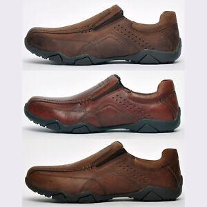 Red Tape REAL LEATHER Derwent Mens Slip on Designer Casual Smart Loafer Shoes