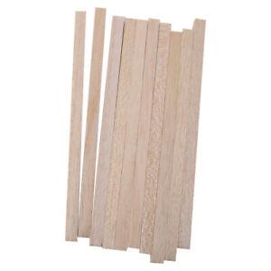 10pcs 10mm x 200mm Craft Sticks Tower Hobbies Rods Balsa Wooden Wood Working