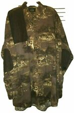 REDHEAD Camo Hunting 2XLT Camping LS Deer Brown Faux Suede Patch Buffalo Shirt