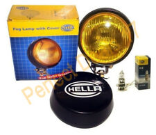 Hella Round Fog Lamp Yellow Glass + Cover With H3 12V 55 Bulb - Universal Fit