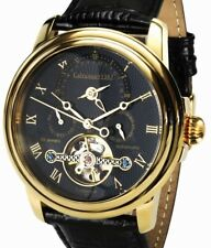 "Calvaneo "" Evidence Shinyblack Edition "" Gold Plated Luxury Automatic Watch"