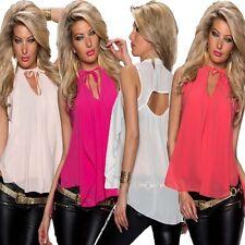 Lockre Sitzende Ärmellose Hüftlang Damenblusen,-Tops & -Shirts für Party