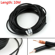 10m RG58 RF Coaxial Cable Connector 50ohm Coax Transceiver Pigtail 32ft UE