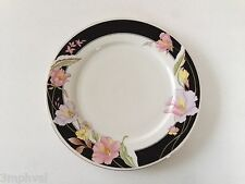 """Lynns Fine China Pearl ALICE 8860 Lily Black Ring Floral - 10-1/2"""" DINNER PLATE"""