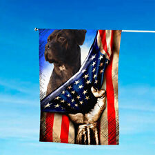 Cane Corso Patriotic House And Garden Flag 4th July Us American Flag
