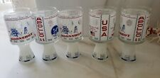 5 Vintage 1969 NASA USA APOLLO 11 MOONSHOT Spacecraft Souvenir Glass Set lot