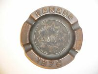 1976 OLYMPIC GAMES MONTREAL Original Tin ASHTRAY with Olympic Circles VERY RARE!