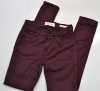 PacSun Womens Jegging Distressed Jeans Size 23 Stretch Denim Maroon