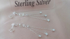 UK Handmade .925 Sterling Silver Unusual Tassel Post Earrings