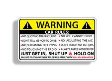 Car Safety Warning Rules Sticker Vinyl Window Graphic Bumper JDM Race Racing OEM