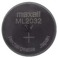 Maxell ML2032 2032 One Single Lithium Rechargeable Coin Cell Battery 3V Japan