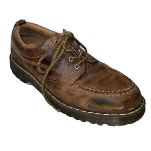 Dr Martens Lowell Brown Distressed Oxford Lace Up Men's 12