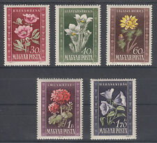 Hungary Sc 906-910 MNH. 1950 Flowers complete, VF