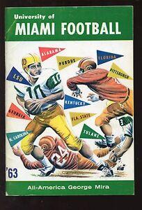 1963 Miami NCAA Football Media Guide VGEX