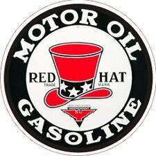 Vintage Red Hat Gasoline Motor Oil Decal The Best!!
