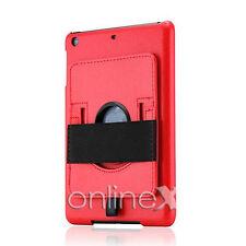 Funda Piel para iPad 2, 3, 4, 10.1 con Soporte Rotatorio Rojo a747