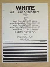1979 WHITE 40 INCH TILLER ATTACHMENT 990 124 YARD BOSS GT PARTS MANUAL