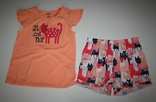 NEW Gymboree Gymmies Tank Top & Shorts Time For Cat A Nap PJs Size XS 4 year NWT