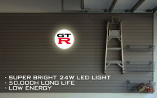 Nissan GTR LED ILLUMINATED SIGN, WALL MOUNTED LIGHT BOX for Garage, Man Cave