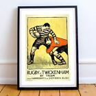SPORT POSTER AT RUGBY 24X36 INCHES