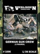 Verlinden 1:35 German Gun Crew - 3 Resin Figures Kit #1696