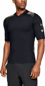 Under Armour Men's Top Perpetual Superbase 1/2 Sleeve T-Shirt - Black/Gold - New