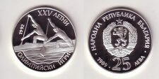 25 Lewa Silbermünze Bulgarien Olympia Barcelona 2er Kanadier 1989 (116265)