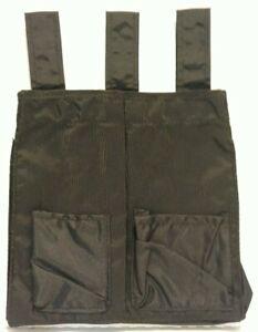 Umpire Ball Bag Black 2 Front Pocket 3 Loop Accessory Baseball Softball T21A