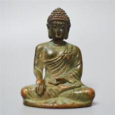 Sakyamuni Bronze Statue Buddha Sitting Chinese Buddhism Antique Collection