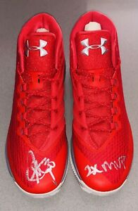 Stephen Curry Autograph UA Curry 3 Under Armour Signed Inscribed shoes BAS USASM