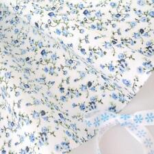 MOLLY - WHITE / BLUE FLORAL vintage COTTON FABRIC VINTAGE per full metre