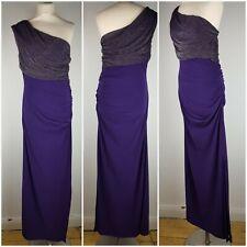 NEW Jane Norman purple full length one shoulder evening formal prom dress 16