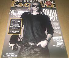Brad Pitt Handsome Actor Hand Signed 11x14 Autographed Esquire Photo w/COA