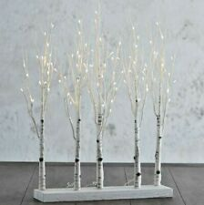 "Raz Imports 30"" Lighted Birch Tree Grove Christmas Decor 3800927 New Mint PreTty"