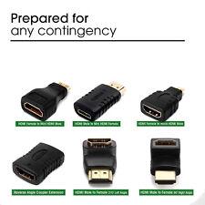 [1-10 LOT] HDMI Male to HDMI / Micro HDMI / Mini HDMI AV adapter Converter-US