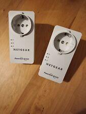 2x Netgear AV500 Powerline Adapter 500mbs Internet a.d. Steckdose Strom Powerlan