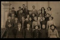 RPPC Early 1900's School Group Children Real Photo Postcard H03