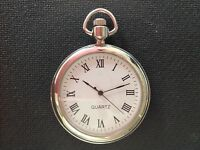 POCKET WATCH NO.15 SILVER COLOURED FOB WATCH  COLLECTABLE