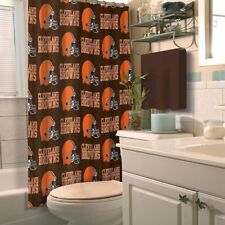 Cleveland Browns NFL LOGO Shower Curtain (72x72) FREE US SHIPPING