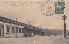 Estacion del Ferro-carril Railway Santiago de Cuba RPPC 1914 Cuba Kuba 1708083
