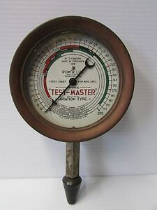Vintage TEST-MASTER Aviation Type Compression Tester - Industrial Steampunk